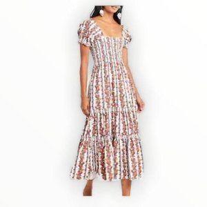 O.P.T Daphne Smocked Body Floral Dress M